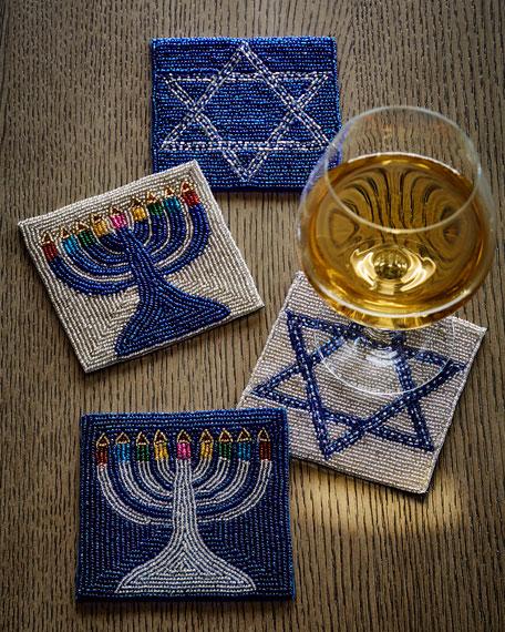 Hanukkah Coasters, Set of 4
