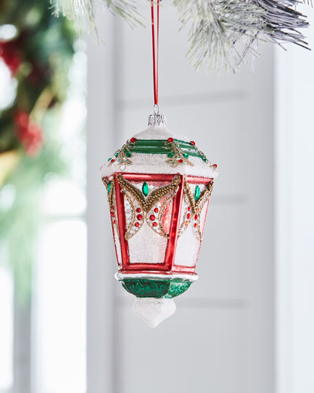 Red & Green Collection Beaded Lantern