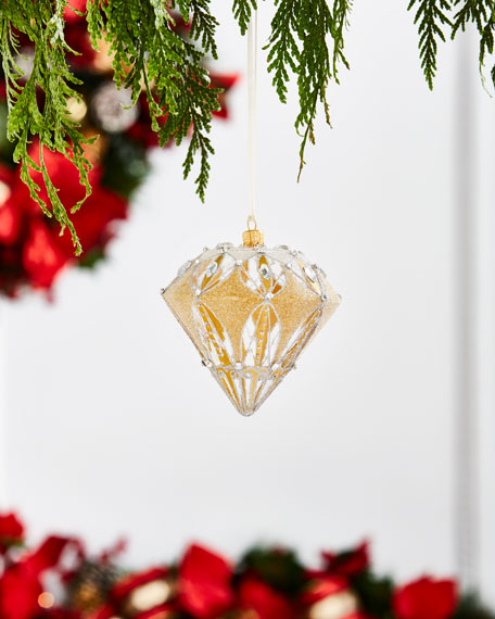 Gold & Glitter Collection Finial Ornament