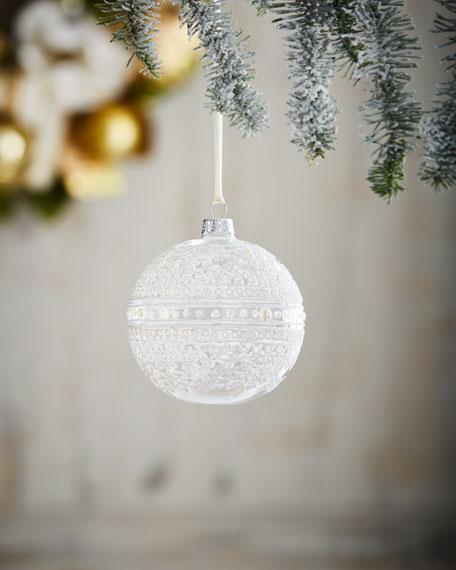 "White & Silver Collection 4"" Ornament"