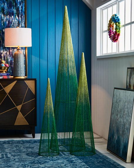 Playful Brights Collection Lime/Green Glitter Wire Christmas