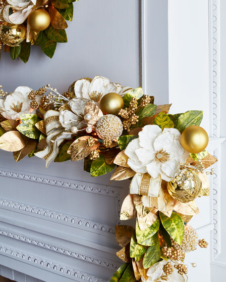Gold & Glitter Collection Pre-Lit Garland, 6'