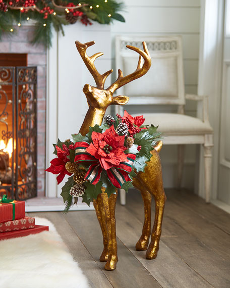 """Red & Green Collection Standing Reindeer, 37"""""""