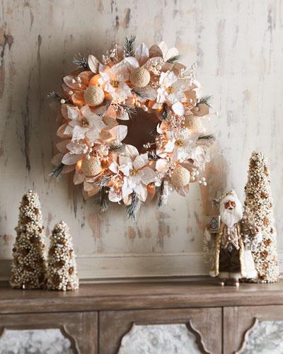 White & Silver Collection Pre-Lit Wreath