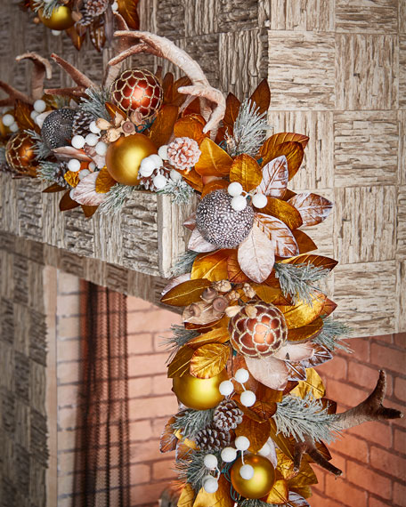 Amber & Chocolate Collection 6' Pre-Lit Garland