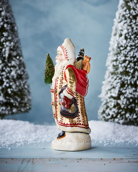 """Big Gold"" European Father Christmas Figurine"