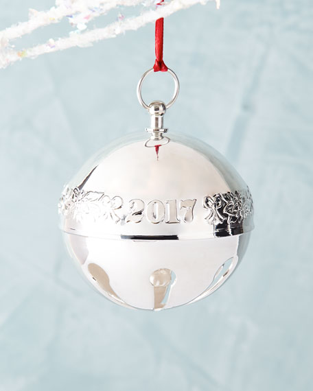Wallace Silversmiths 2017 47th Edition Sleigh Bell Ornament