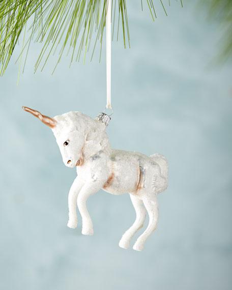 White Unicorn Ornament