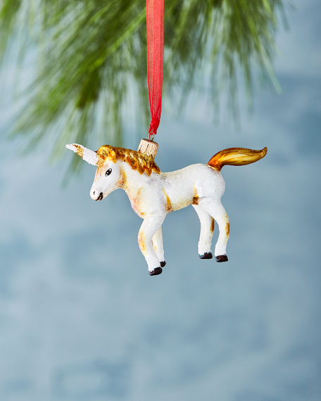 Small Golden Unicorn Ornament