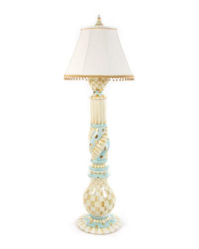 Parchment Check Floor Lamp