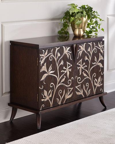 Lipari Floral Carved Cabinet