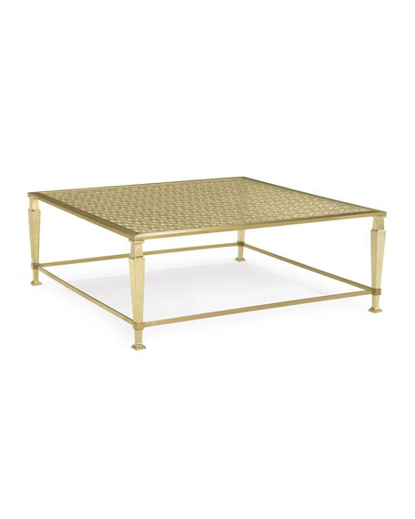 caracole Johanna Golden Square Coffee Table
