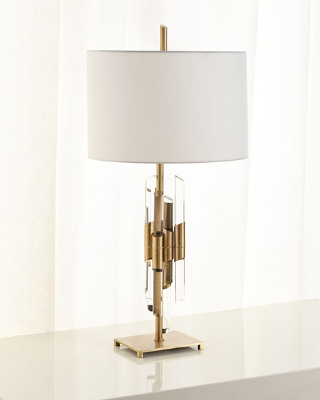 John-Richard Collection Lucite Lamp