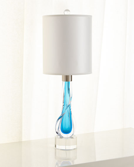 John-Richard Collection Art Glass Lamp