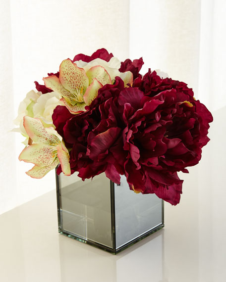 John-Richard Collection Smokey Peonies Arrangement