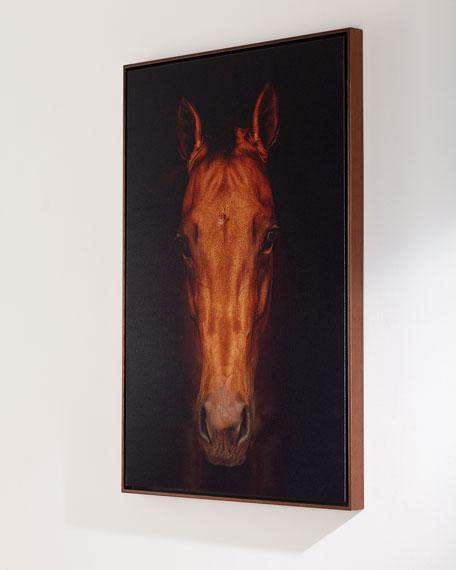 """Faithful Friend"" Horse Giclee Art Photo on Canvas"