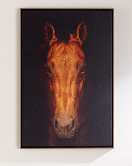 "Faithful Friend Horse Giclee, 30"" x 40"""