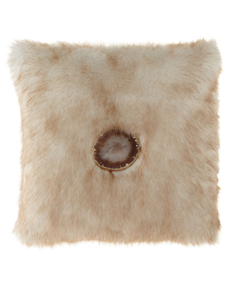 6009 Parker Iliana Camel Faux-Fur Pillow