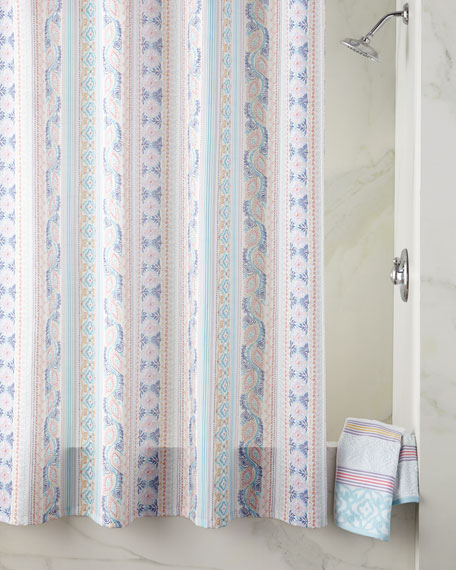 Lily Stripe Shower Curtain