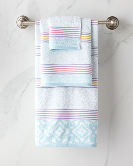 Dena Home Lily Stripe Bath Towel and Matching