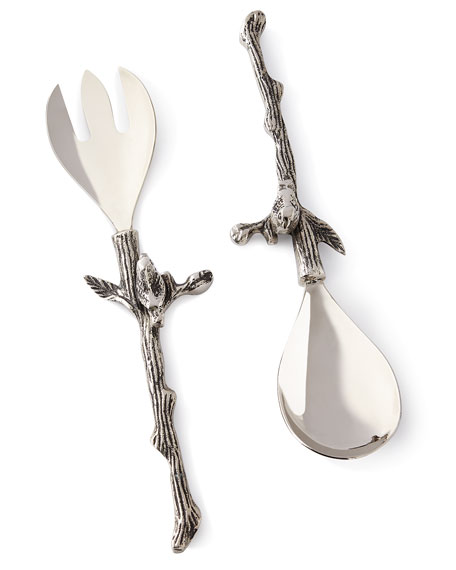 Star Home Designs Birds & Branches Salad Servers | Neiman Marcus