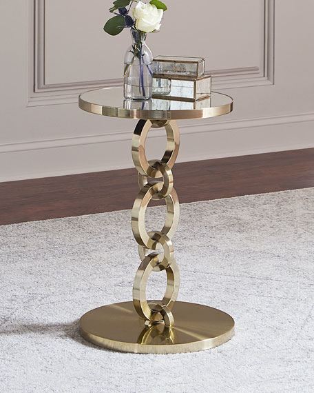 Golden Bracelet Side Table