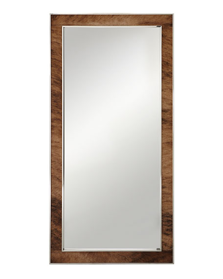 Jody Hairhide Trim Floor Mirror