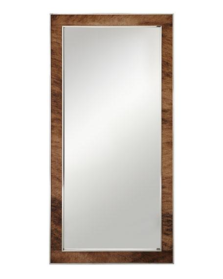 Jody Hairhide Trim Floor Mirror