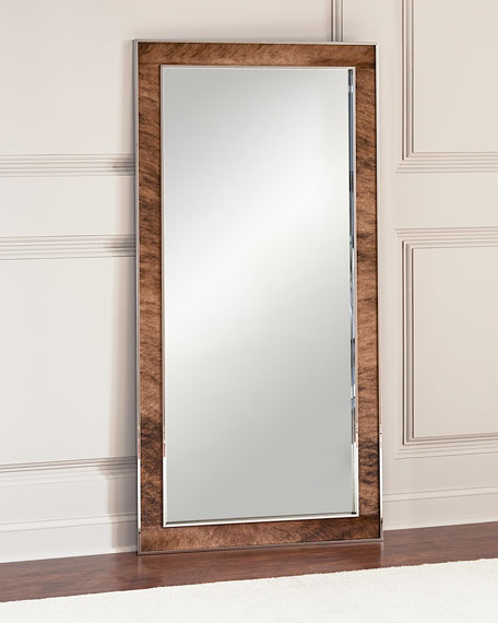 Bernhardt Jody Hairhide Trim Floor Mirror