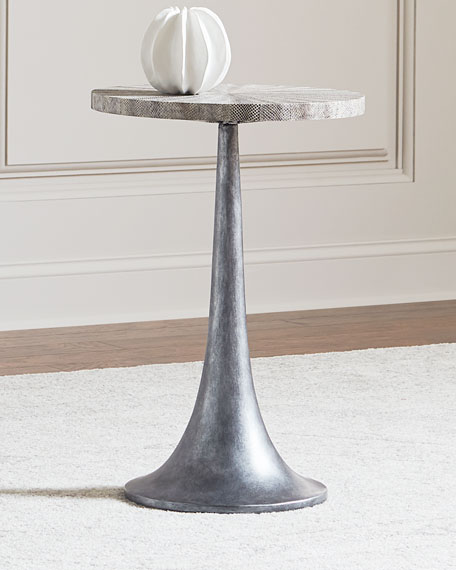 Bernhardt Falcor Snakeskin-Top Side Table