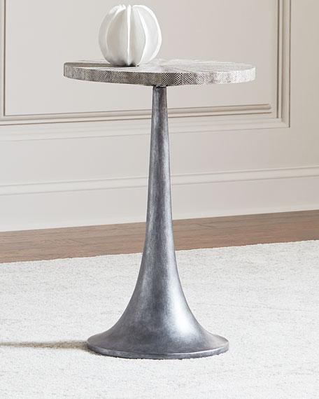 Bernhardt Falcor Snakeskin-Top Side Table
