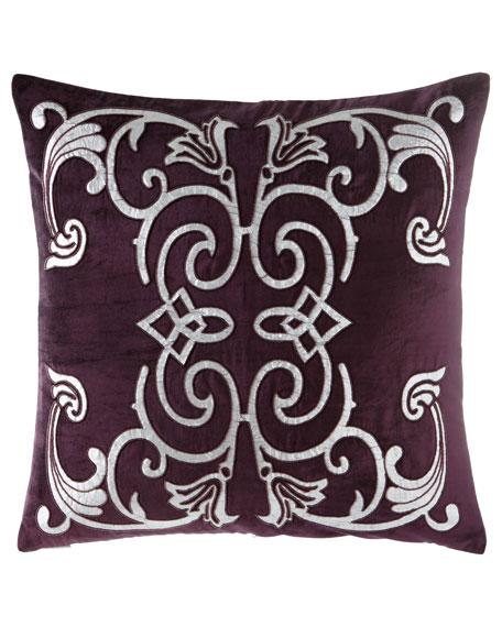 """Mozart Plum Pillow, 24""""Sq."""