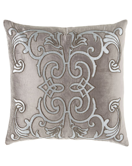 "Mozart Platinum Pillow, 24""Sq."