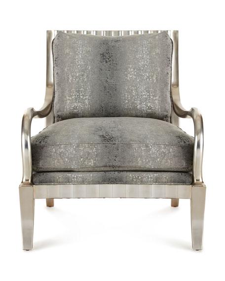 Clyde Python Print Lounge Chair
