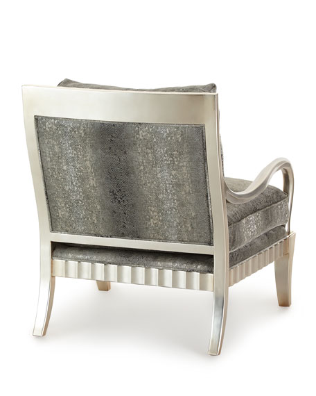 Clyde Python Print Lounge Chair