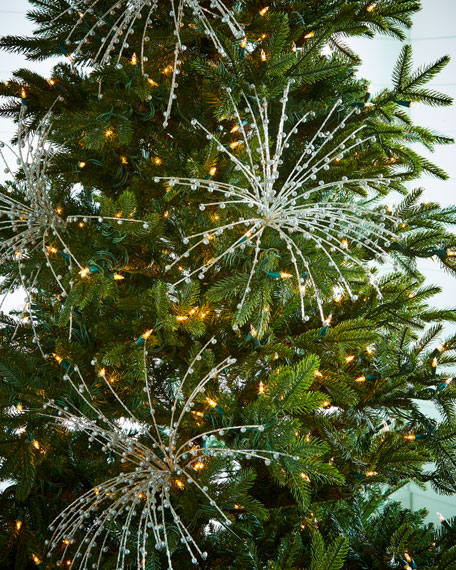 Transparent-Bead Christmas Pick with Bugle Beads