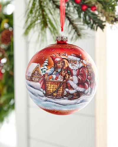 Christmas Story Glass Ball Ornament