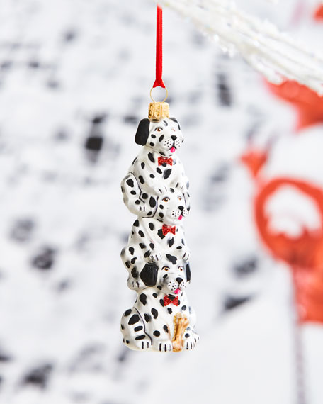 Dalmatian Puppy Stack Ornament