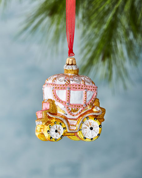 Pink Carriage Ornament