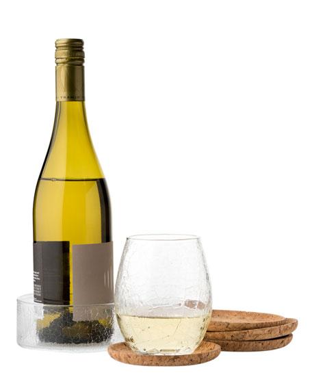 Quinta Hugo Natural Bottle & Beverage Coasters, Set of 4