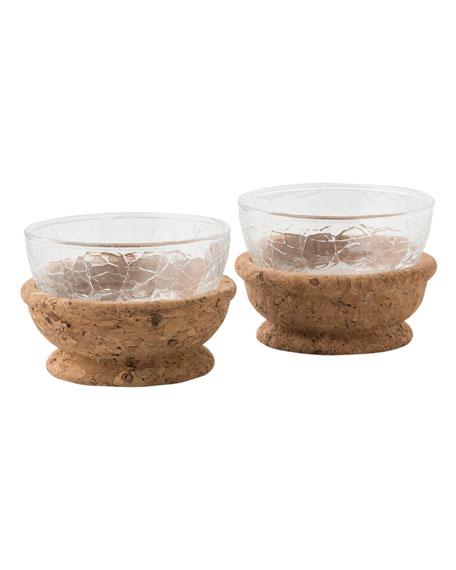 Quinta Hugo Natural Pinch Bowls, Set of 2