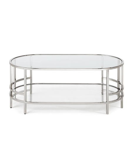 Halle Stainless Steel & Glass Coffee Table