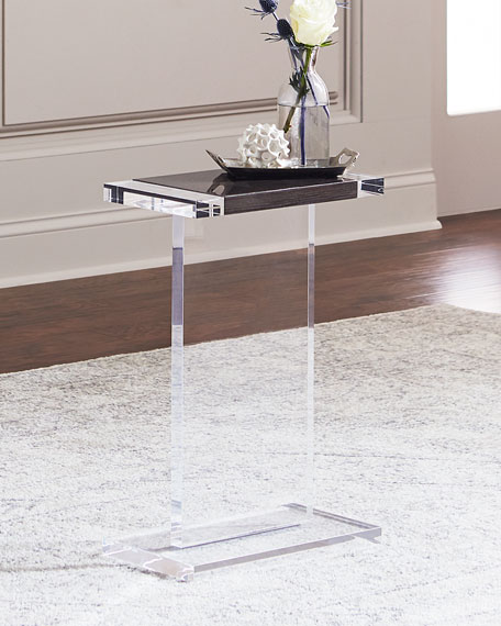 Interlude Home Waldo Rectangle Acrylic Side Table