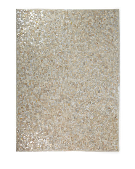 Maxie Metallic Hairhide Rug, 5' x 8'