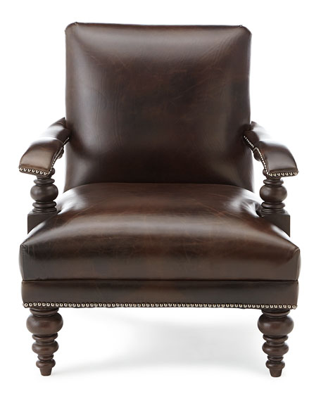 Dalton Leather Accent Chair