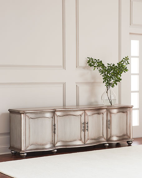 Garrick Metal-Wrapped Entertainment Console