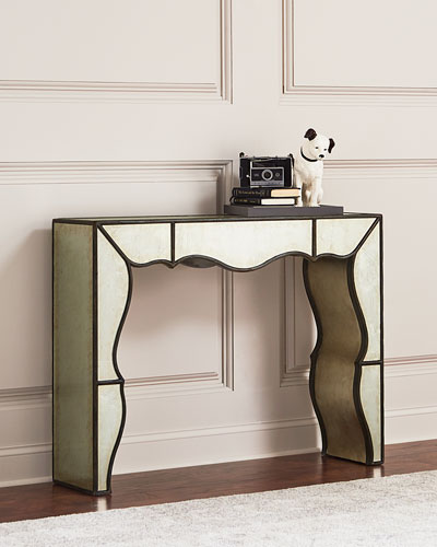 Garth Eglomise Mirrored Console Table