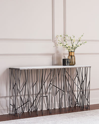 Hooker Furniture Silver Strands Console Table