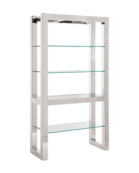 Naylor Polished Stainless Steel Etagere