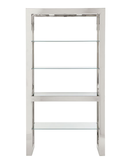 Bernhardt Naylor Polished Stainless Steel Etagere